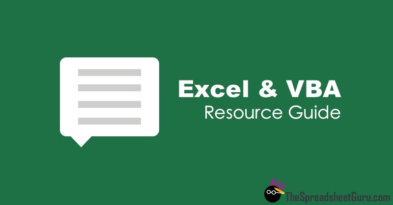 Excel & VBA Blog Forum Resource Directory Guide