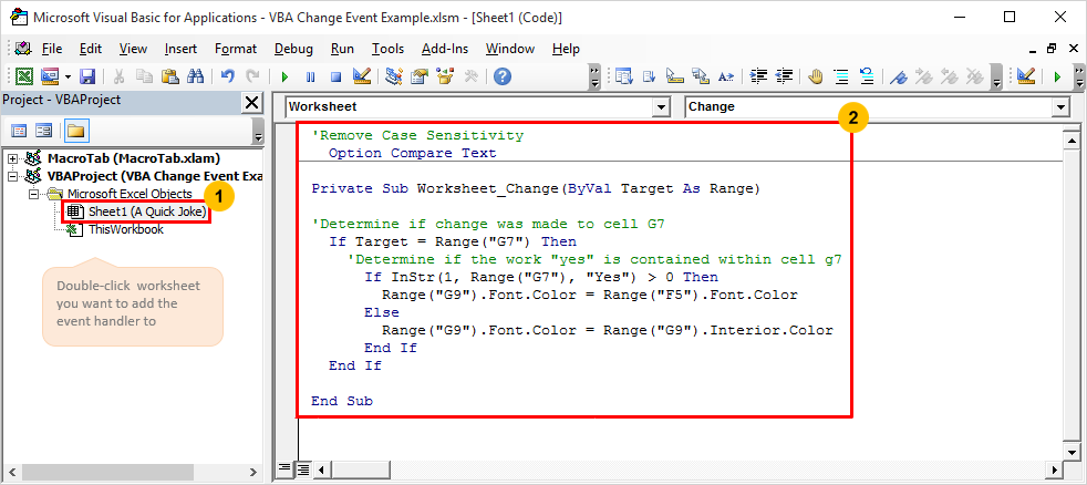 How To Trigger Your VBA Macros To Run Based On A Specific Cell Value