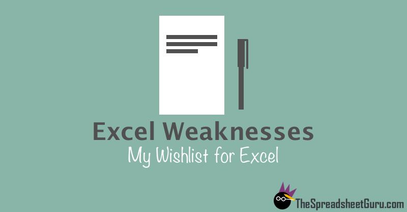 Ways To Improve Excel Features