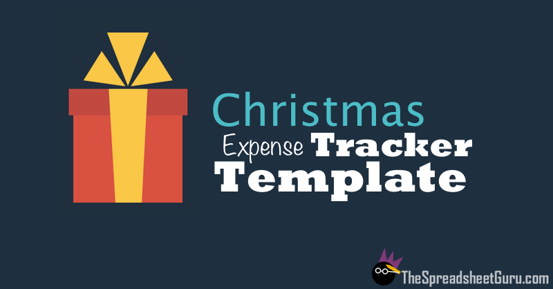 Christmas Holiday Present Expense Tracker Spreadsheet Template