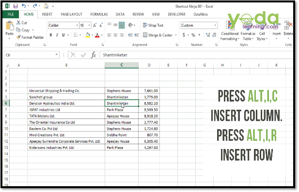 Best Excel Keyboard Shortcuts For Editing Columns & Rows