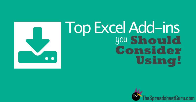 Top Popular Excel Add-ins Directory List