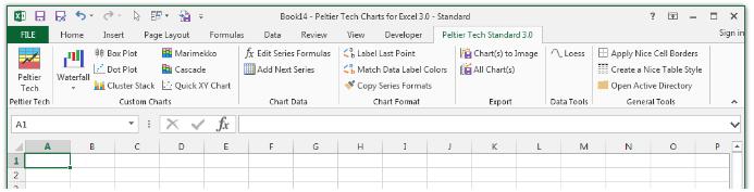 Peltier Tech Chart Utility Excel Add-in
