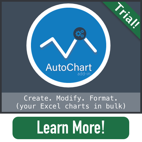 AutoChart Excel Charting Graph Add-in Tool