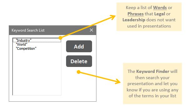 Guru Tab Microsoft PowerPoint Tool Keyword Finder