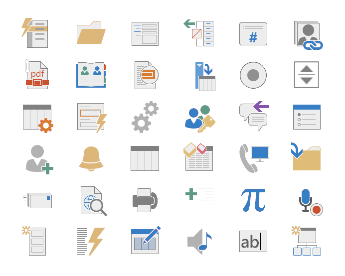 Access To Microsoft's Icons - The My First Add-in templates give you easy access to all of the icons included in the Office Applications, so your add-ins will look professional and blend right into Excel, PowerPoint, or Word!