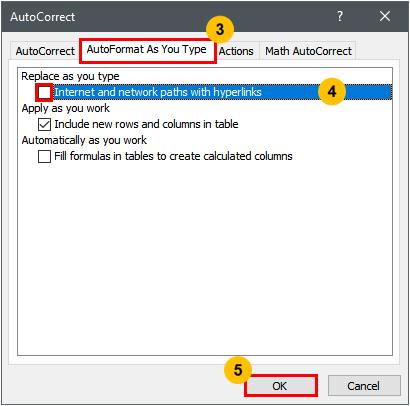 Prevent Auto-Hyperlinking In Excel — The Spreadsheet Guru