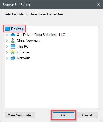 Extract Office Deployment Tool Files