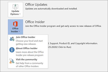 Office 365 Insider Version