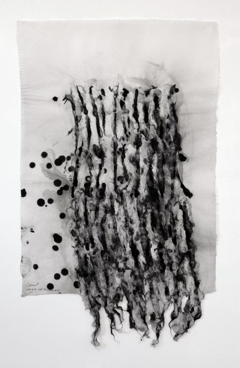 URSULA VON RYDINGSVARD   Constellation    WORK ON PAPER Handmade pulp paper  36.00 x 23.00 in 91.4 x 58.4 cm  Unique Work  Signed by the artist