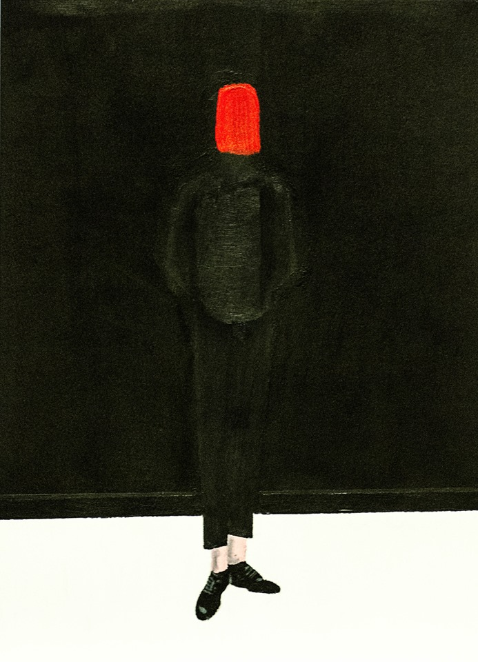 """""""man with red over face"""" by Steven Broadhead"""