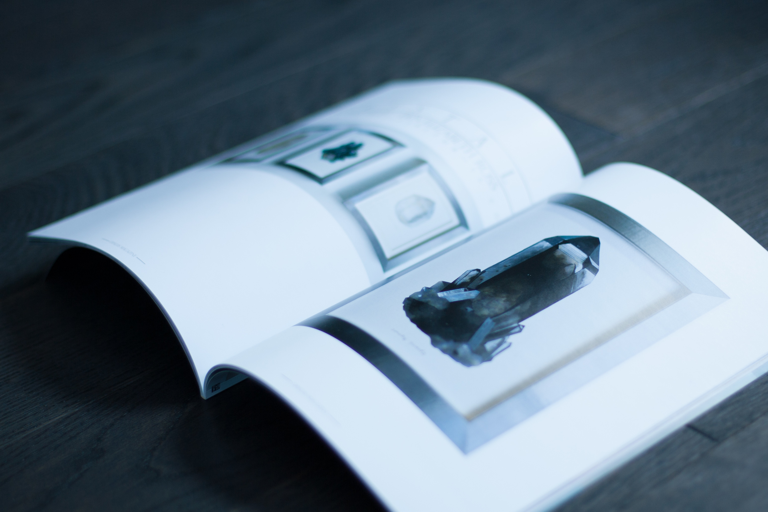 Photo of our favourite Crystal painting, by Erin Elizabeth Ross, the Smoky Quartz, from the pages of OPALUS Magazine.
