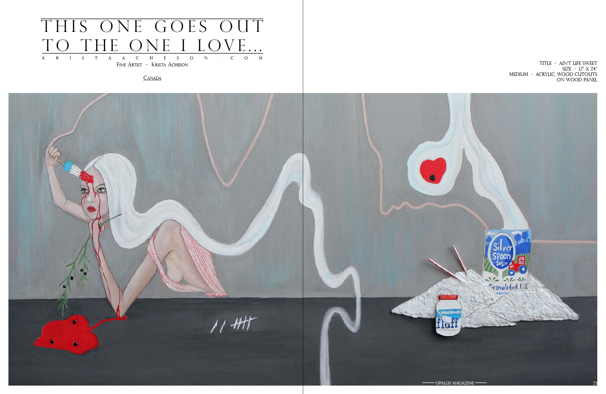 "Title  -  Ain't Life Sweet  Size  -  12"" X 24""  Medium  -  Acrylic, Wood cutouts on wood panel"