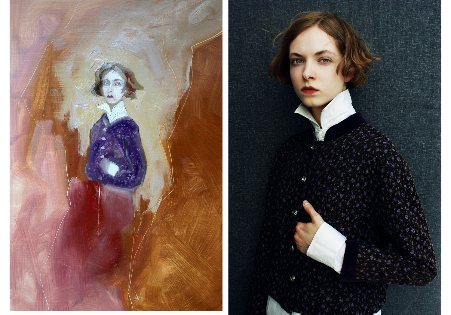 A photography and painting collaboration - between Model/Painter Aneta Vozenilkova & Photographer/Director Balint Nemes
