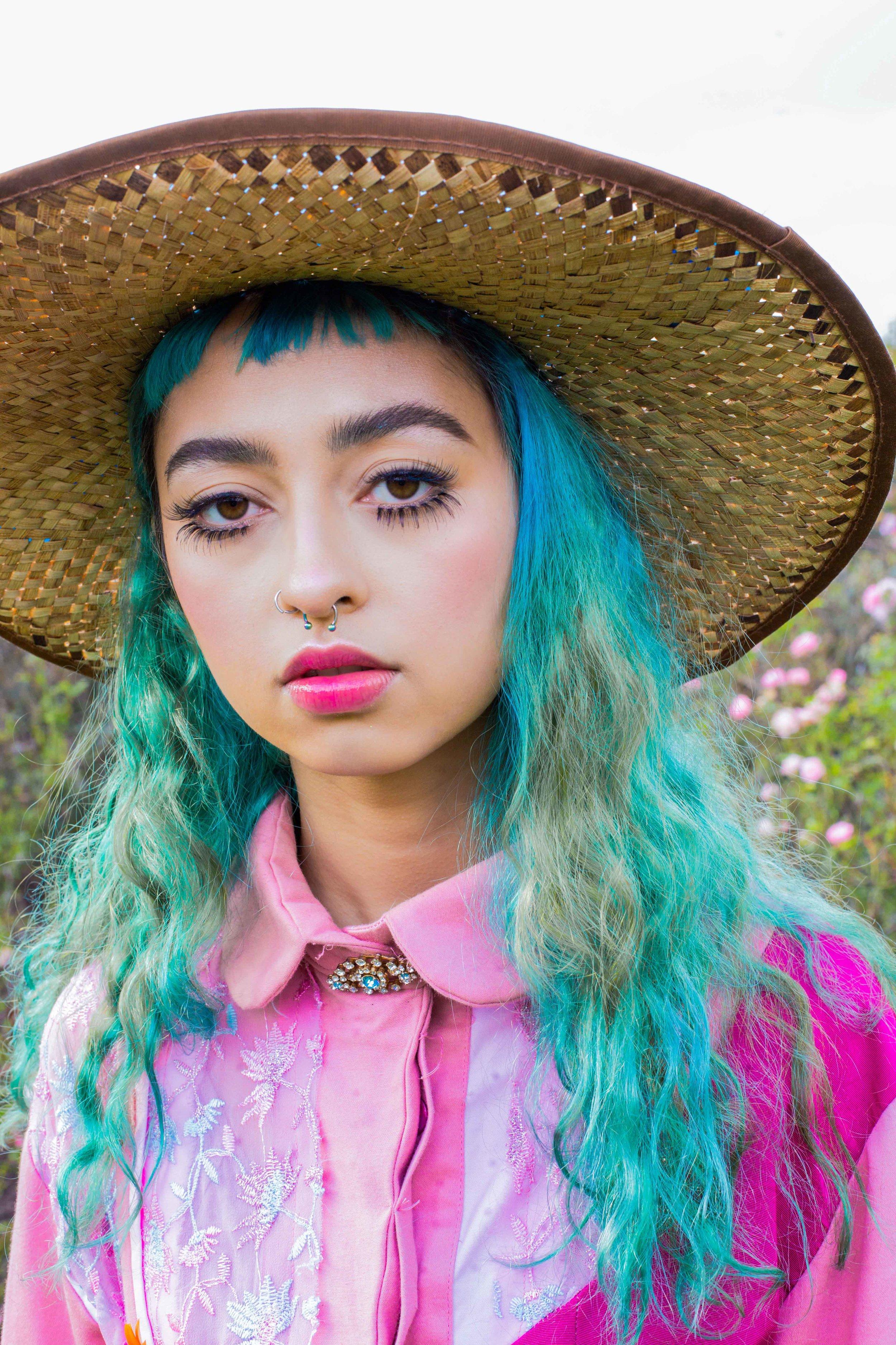 Dress: Celine Kwan  Hat: Stylists own
