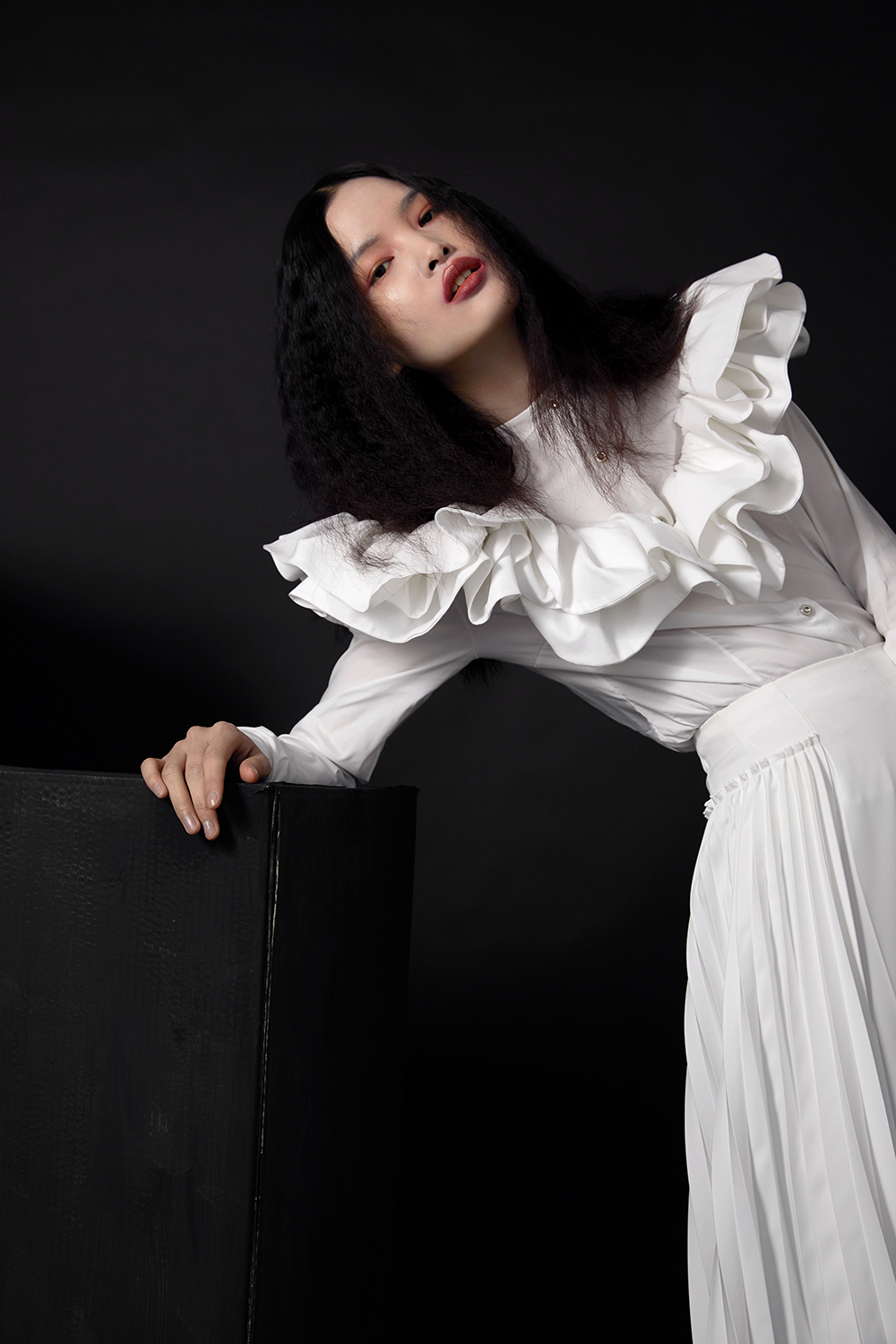 Blouse by See by Chloe  Flairs by Malan Breton