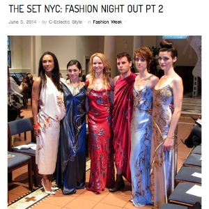 The Set Fashion Night Out Runway Show
