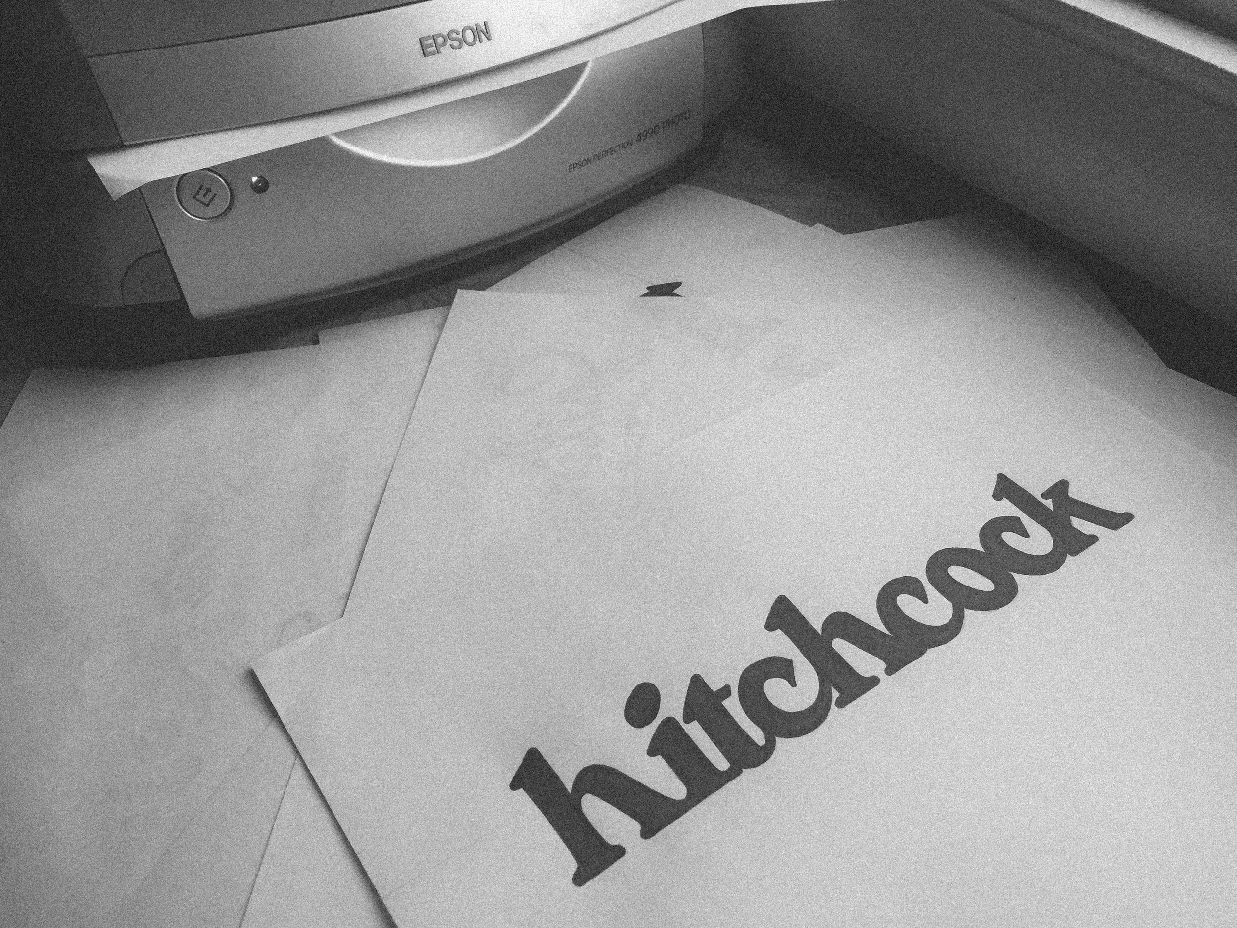 Each logo is hand drawn with pencil, then inked with an eye on proportion and spacing.