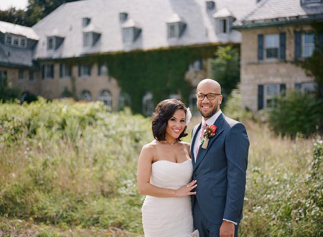 Bride and Groom Perona Farms