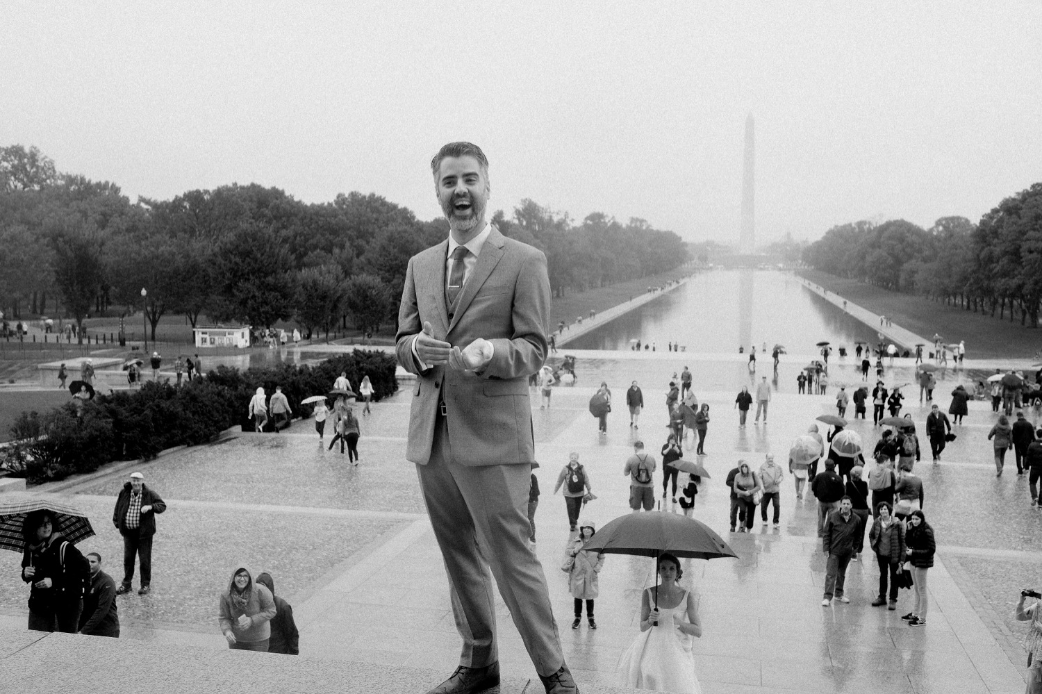 Lincoln Memorial First Look | Washington DC Wedding Photographer