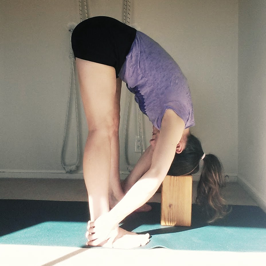 Uttanasana head to block.jpg