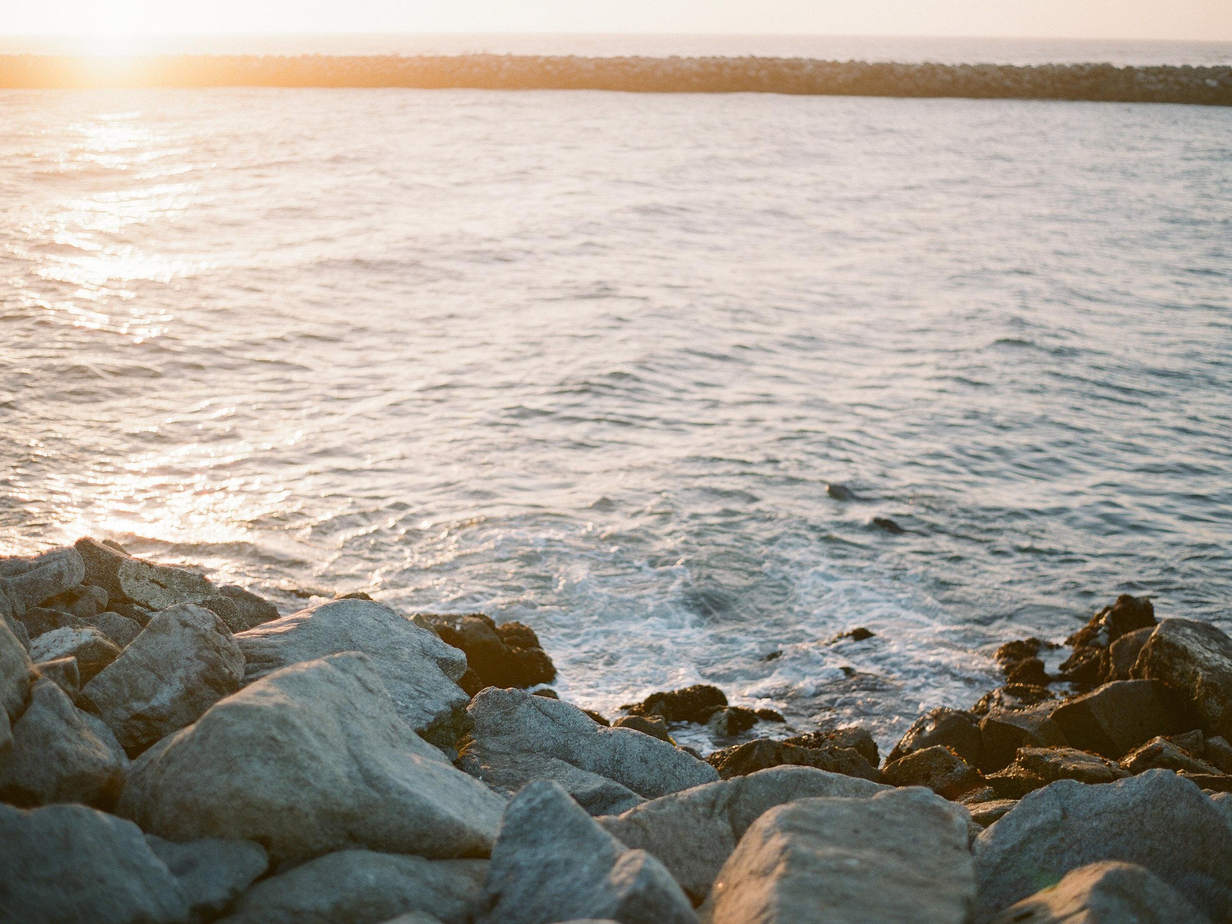 Moss landing beach on film