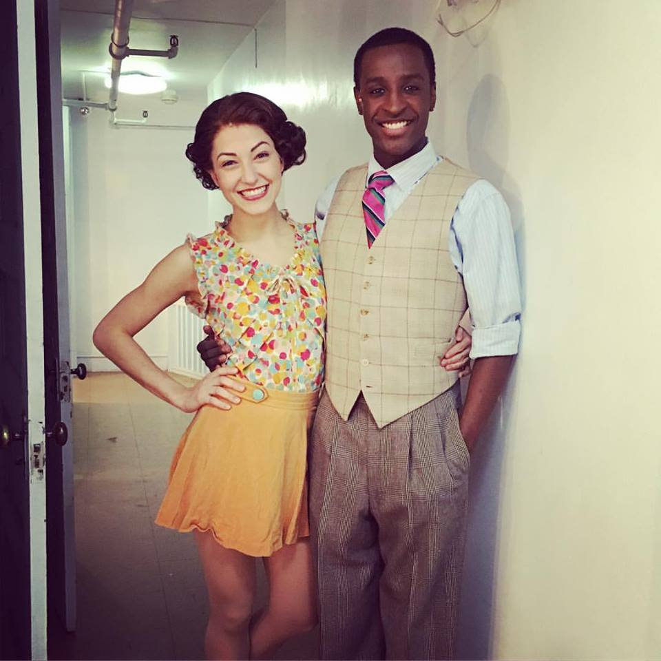 With fellow 42nd Street cast member Devin Holloway