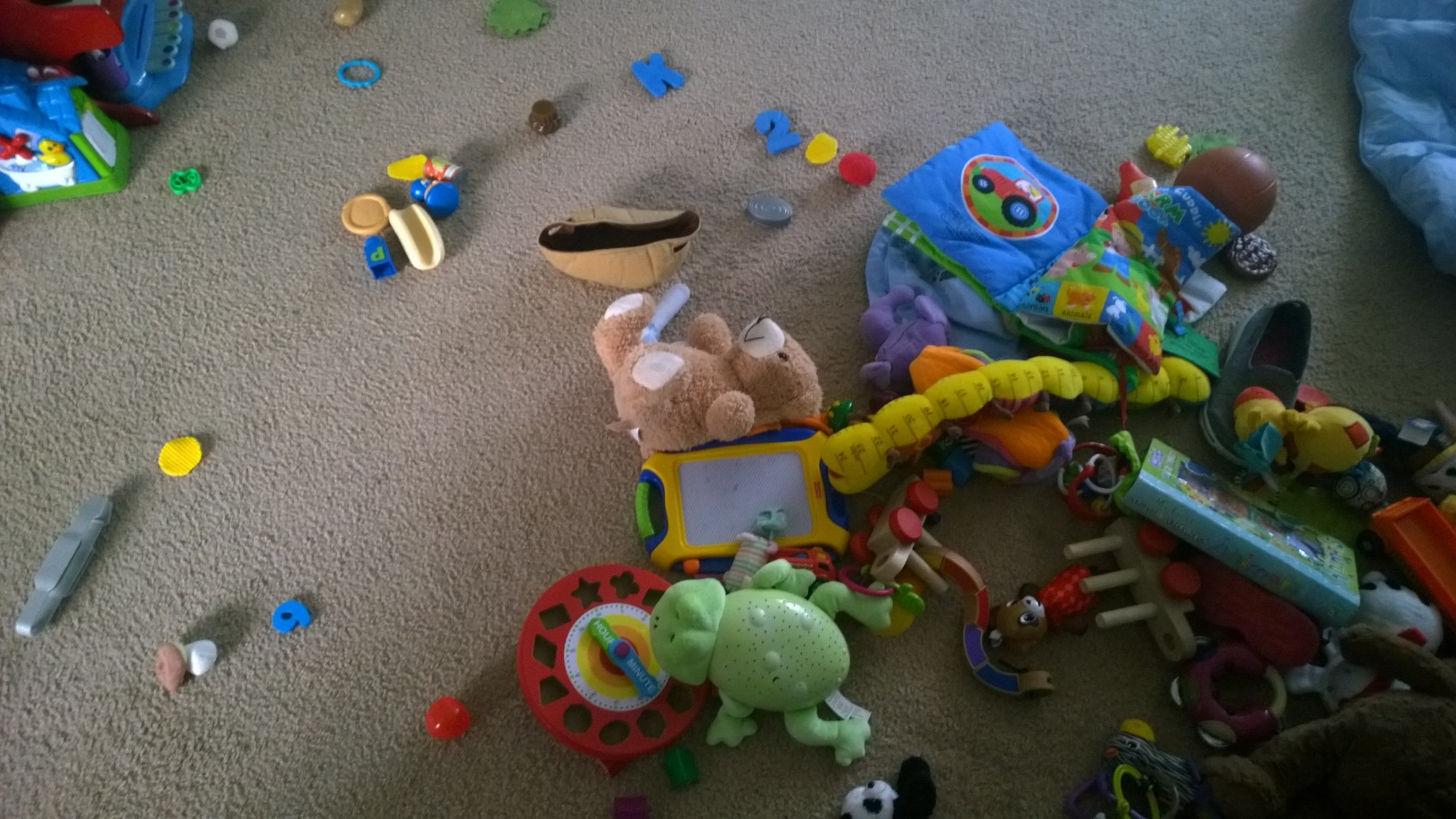 Ordinary mess from an active day.