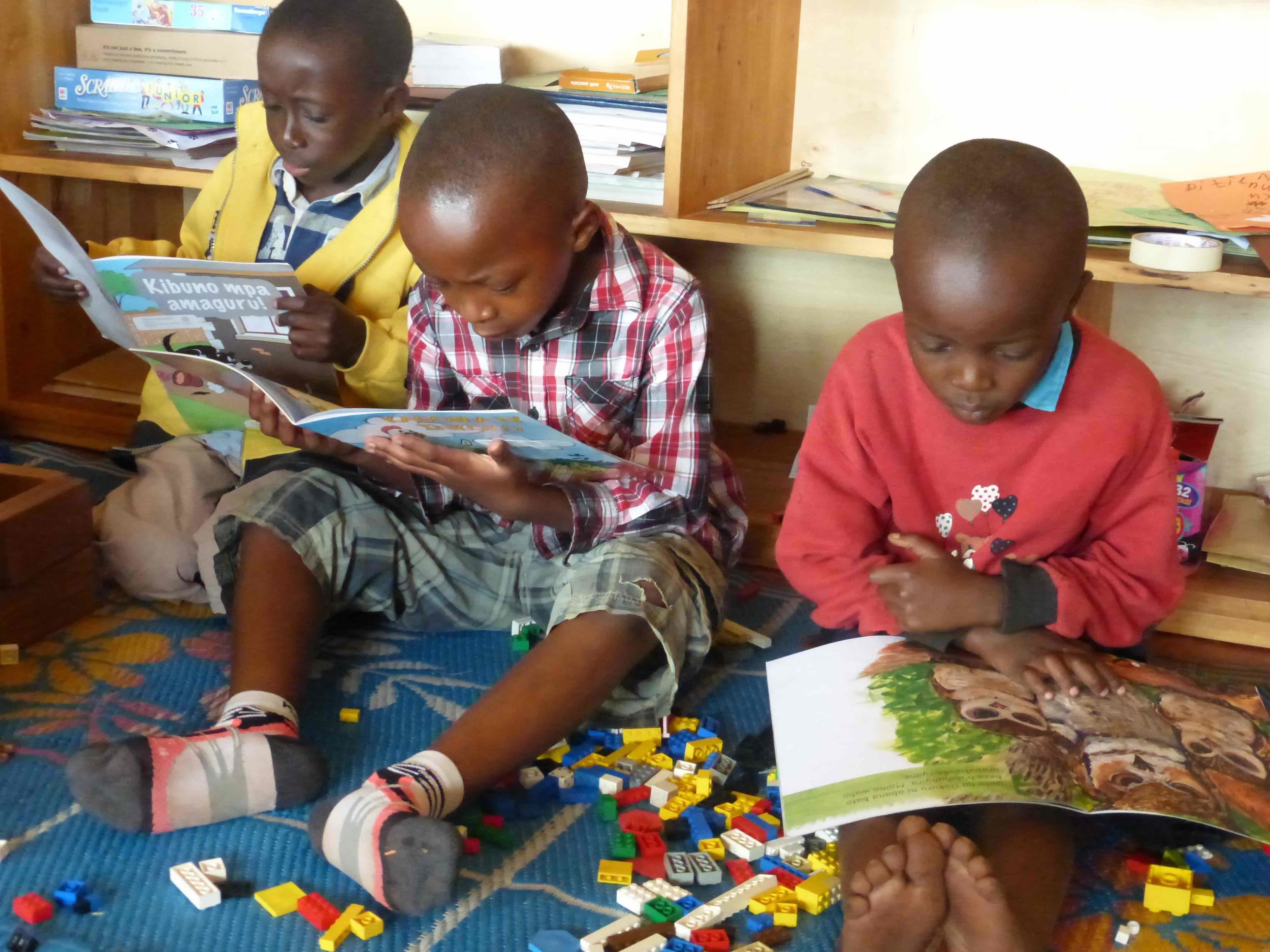 Our children choose to read books—instead of playing with learning materials such as Legos™!