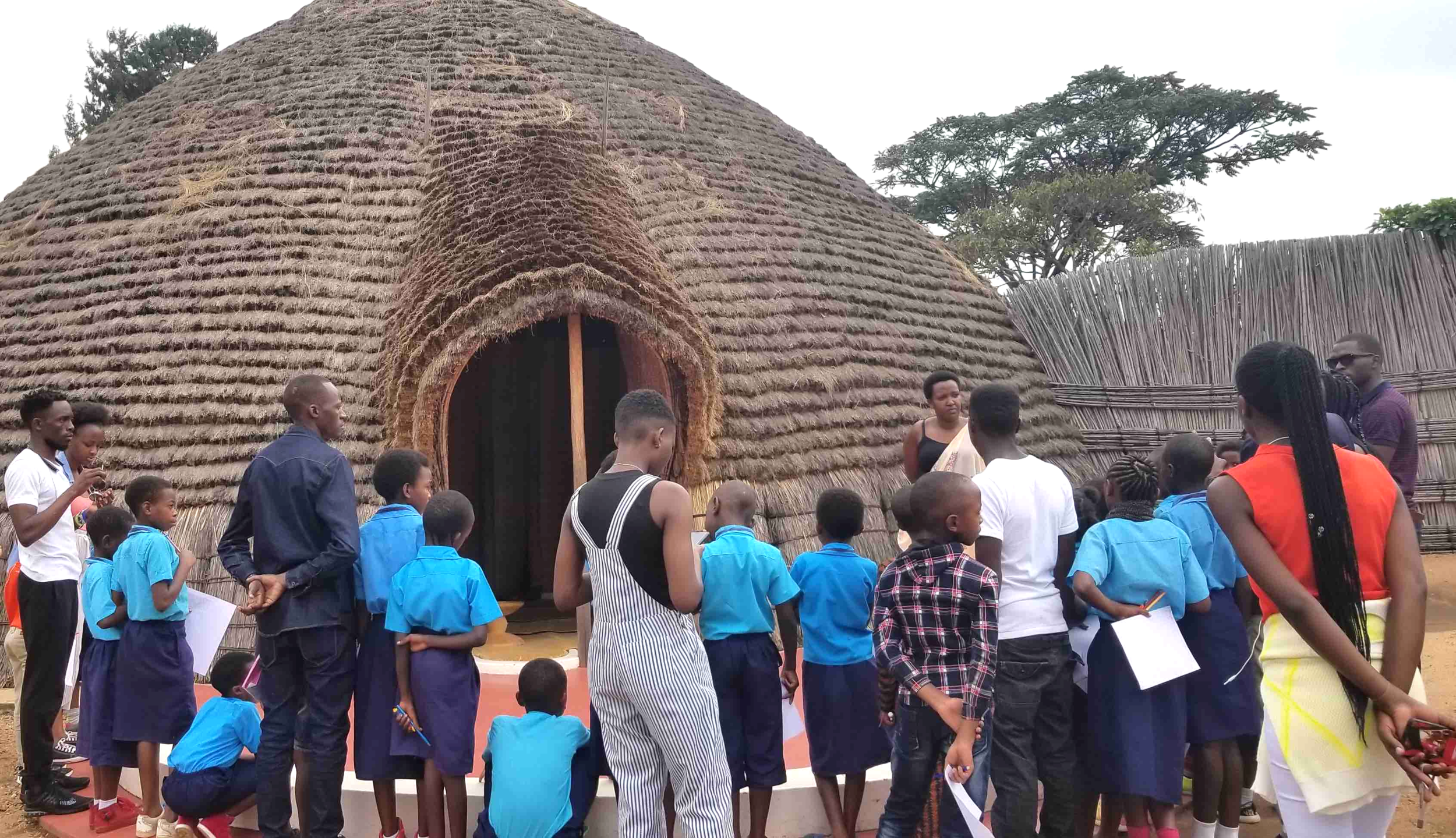 We visited the traditional King's Palace in Nyanza.
