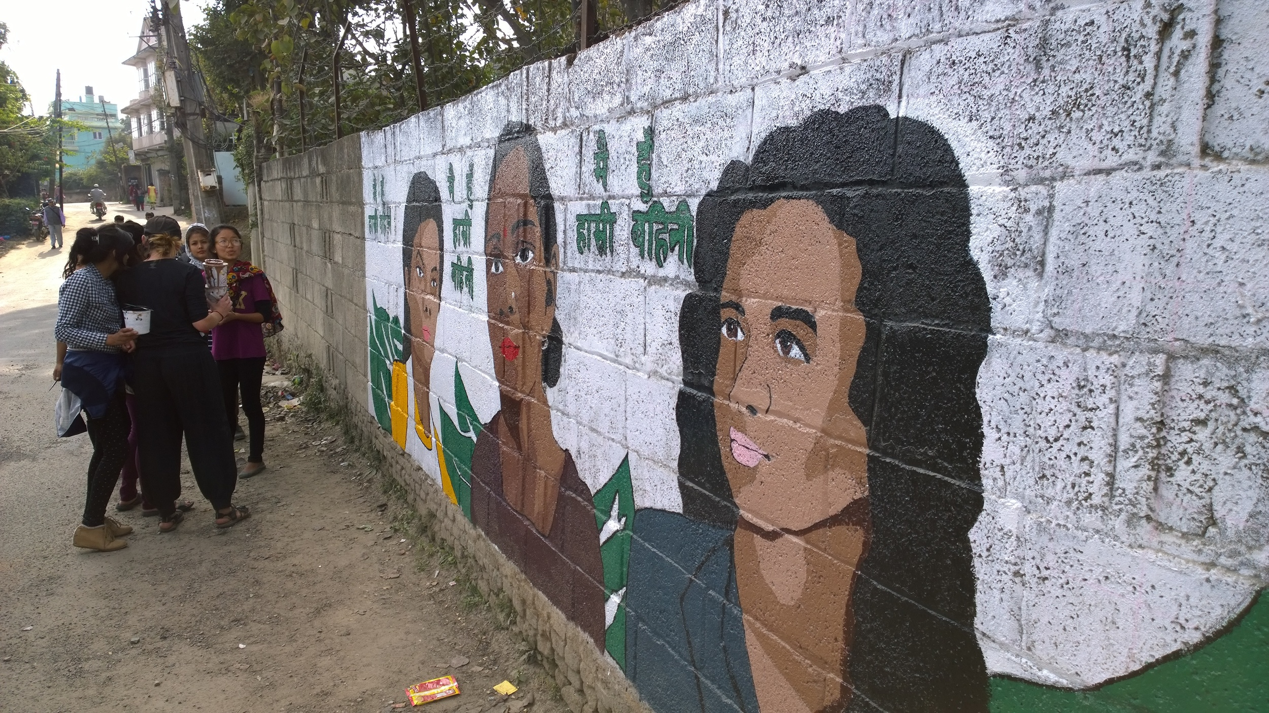 Kathmandu Nepal Recycling Collective Mural