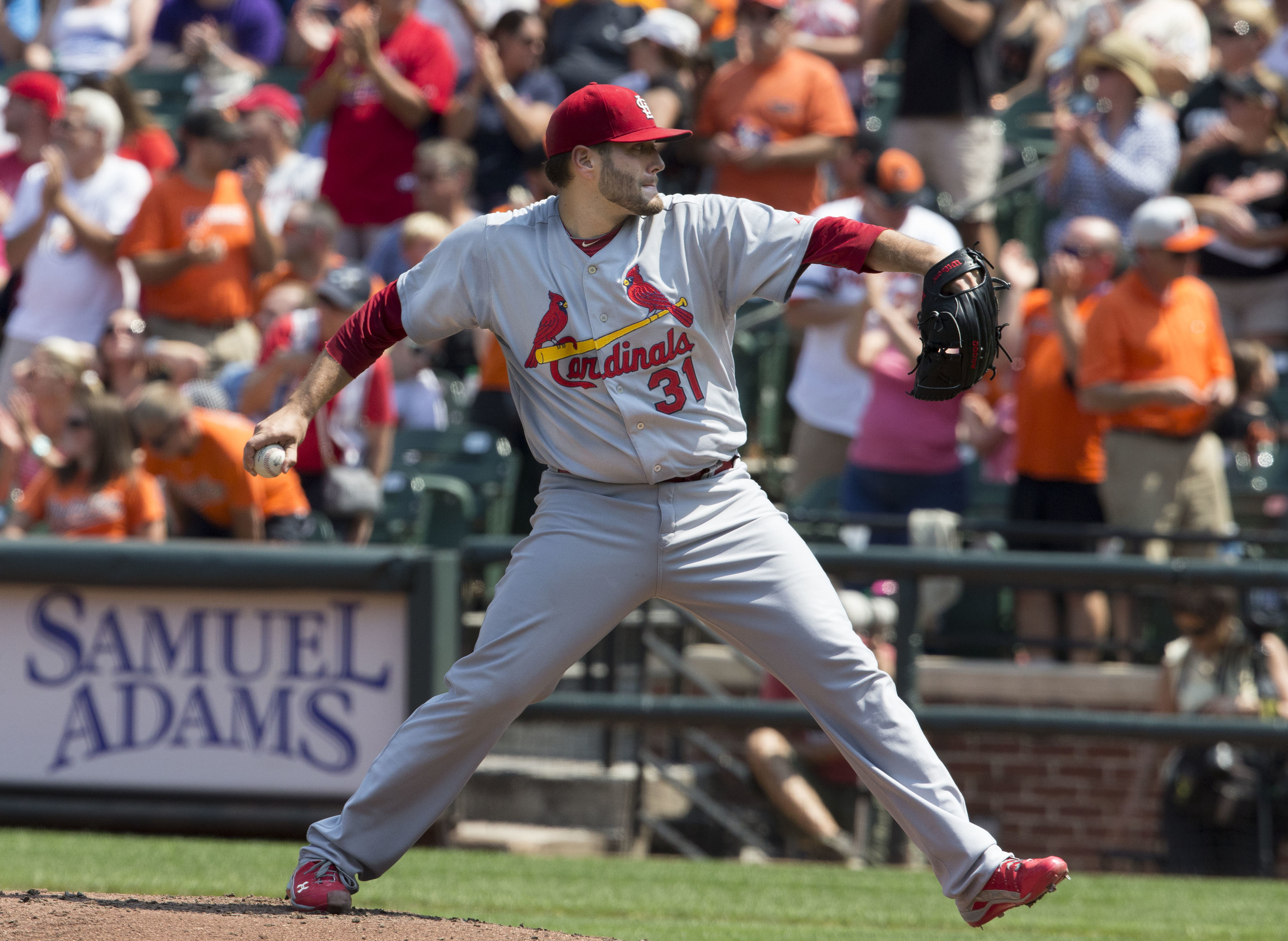 Lance Lynn, 2014. Many thanks to Keith Allison for using the Creative Commons license on Flickr and so making indie baseball blogs' Facebook shares look much better than they otherwise would. (CC BY-SA)