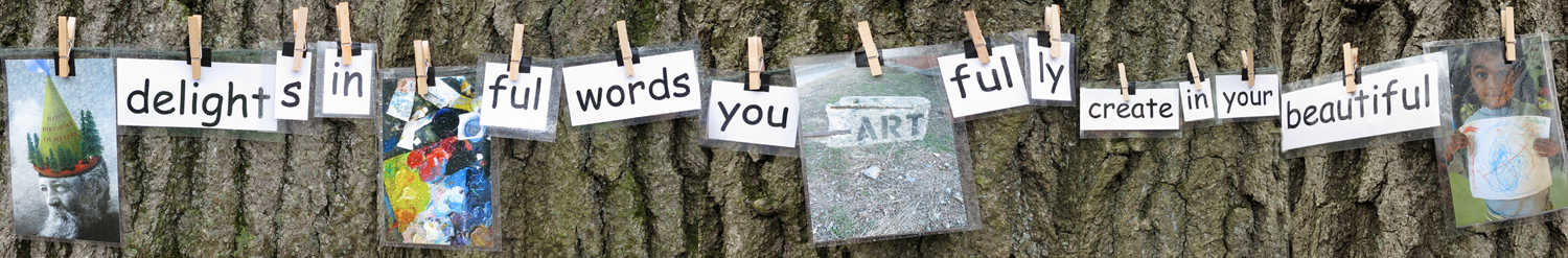 Olmstead delights in the colorful words you artfully create in your beautiful park.