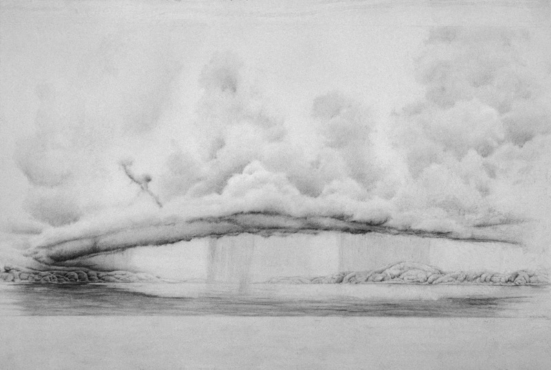 """Storm Over the Water, 26"""" x 50"""""""