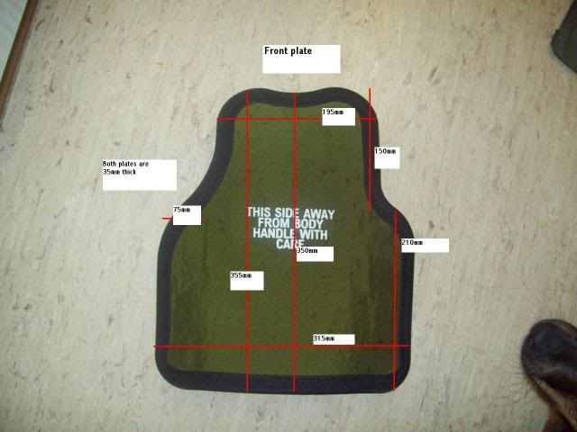Osprey front plate