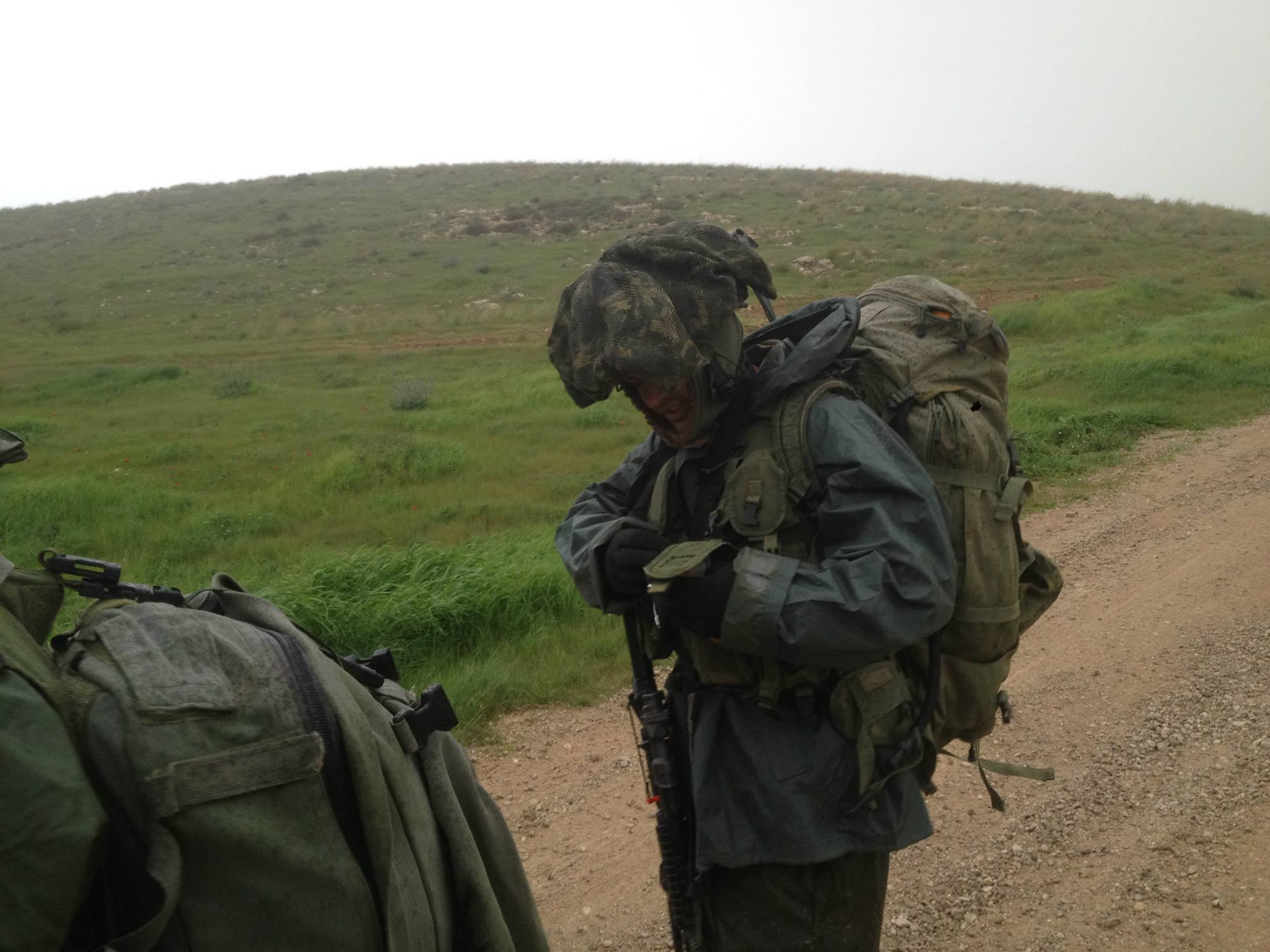 Typical IDF Rain gear, very lose and weak.