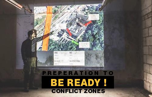 Conflict zone preparation.