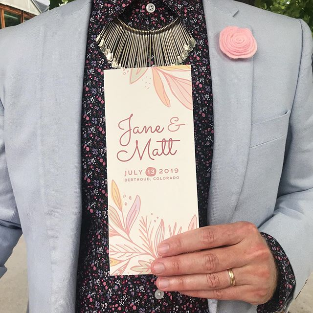 Add another beautiful wedding and a custom tri-fold invitation to the list of summer memories! . . . #invitationdesign #weddingdesign #freelancedesign #weddinginspiration #invitedesign #trifoldinvitation
