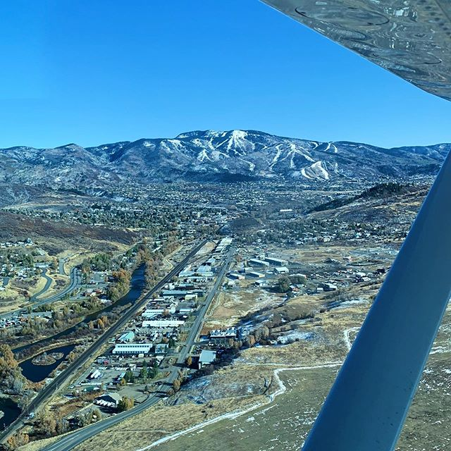 Answer me this — what else do you do when you're at brunch with a pilot friend, trying to figure out what you're going to do with the rest of your weekend, besides eagerly agreeing to jump in a plane for a scenic jaunt over to Steamboat?
