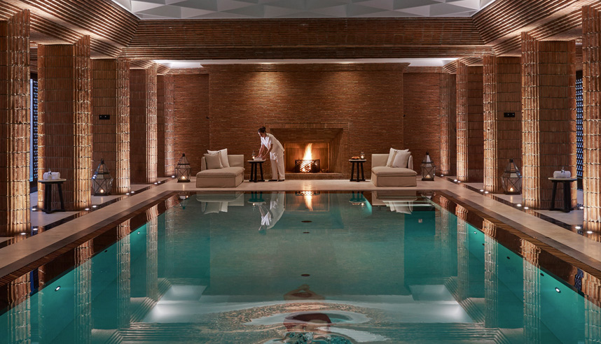 The spa at the newly opened Mandarin Oriental Marrakech