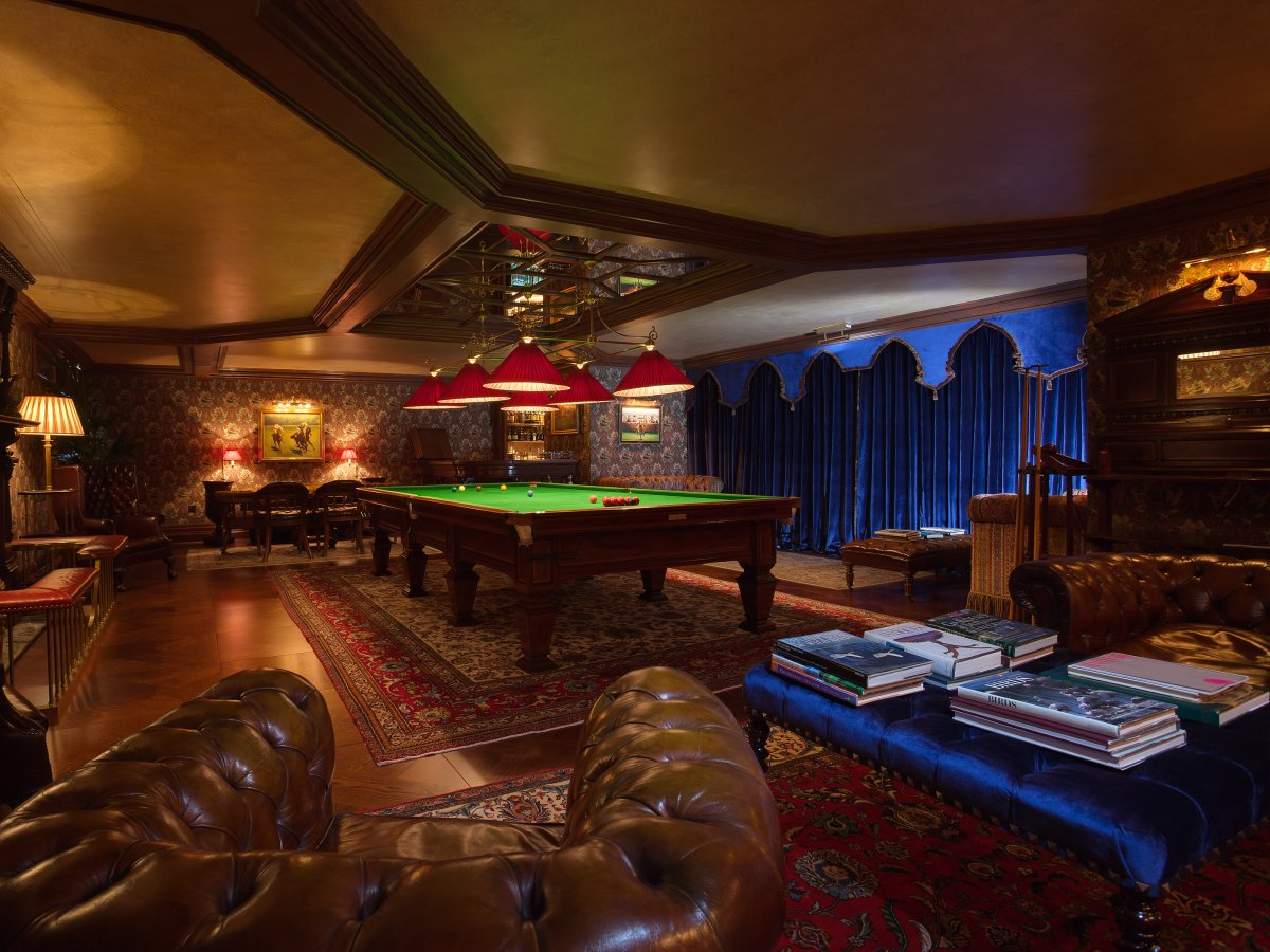 There's also a cozy billiards room where visitors can relax, unwind, and play a few rounds.