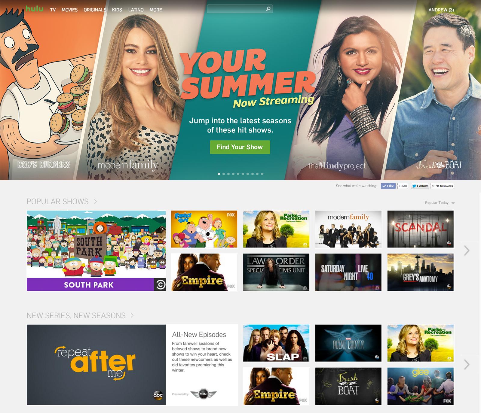 Homepage Masthead