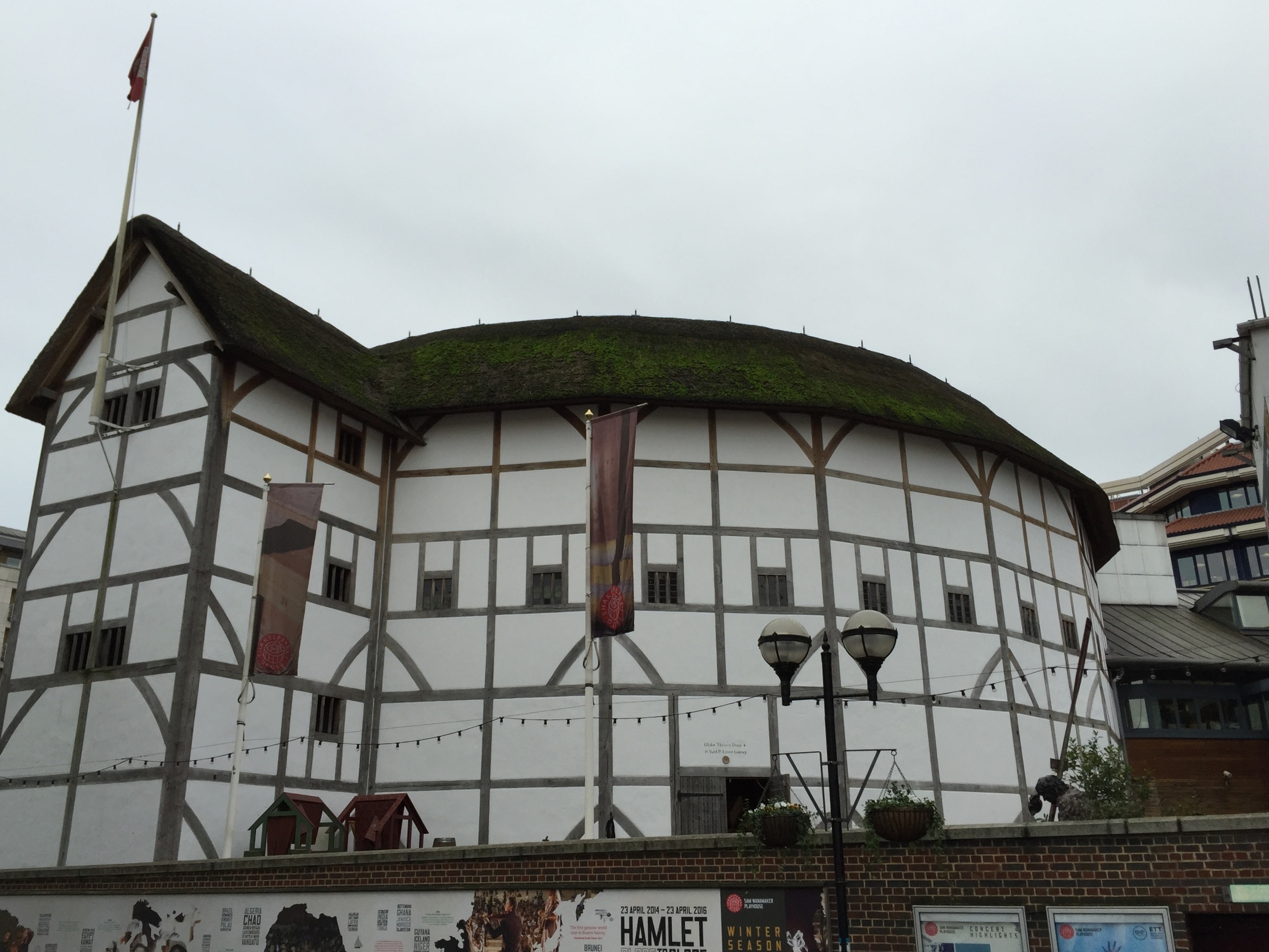 A bad picture of the Globe.