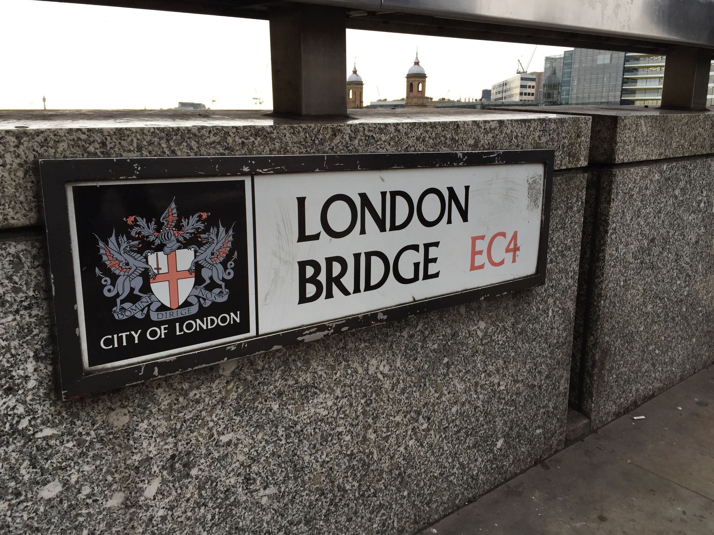 The London Bridge, which was not actually falling down.