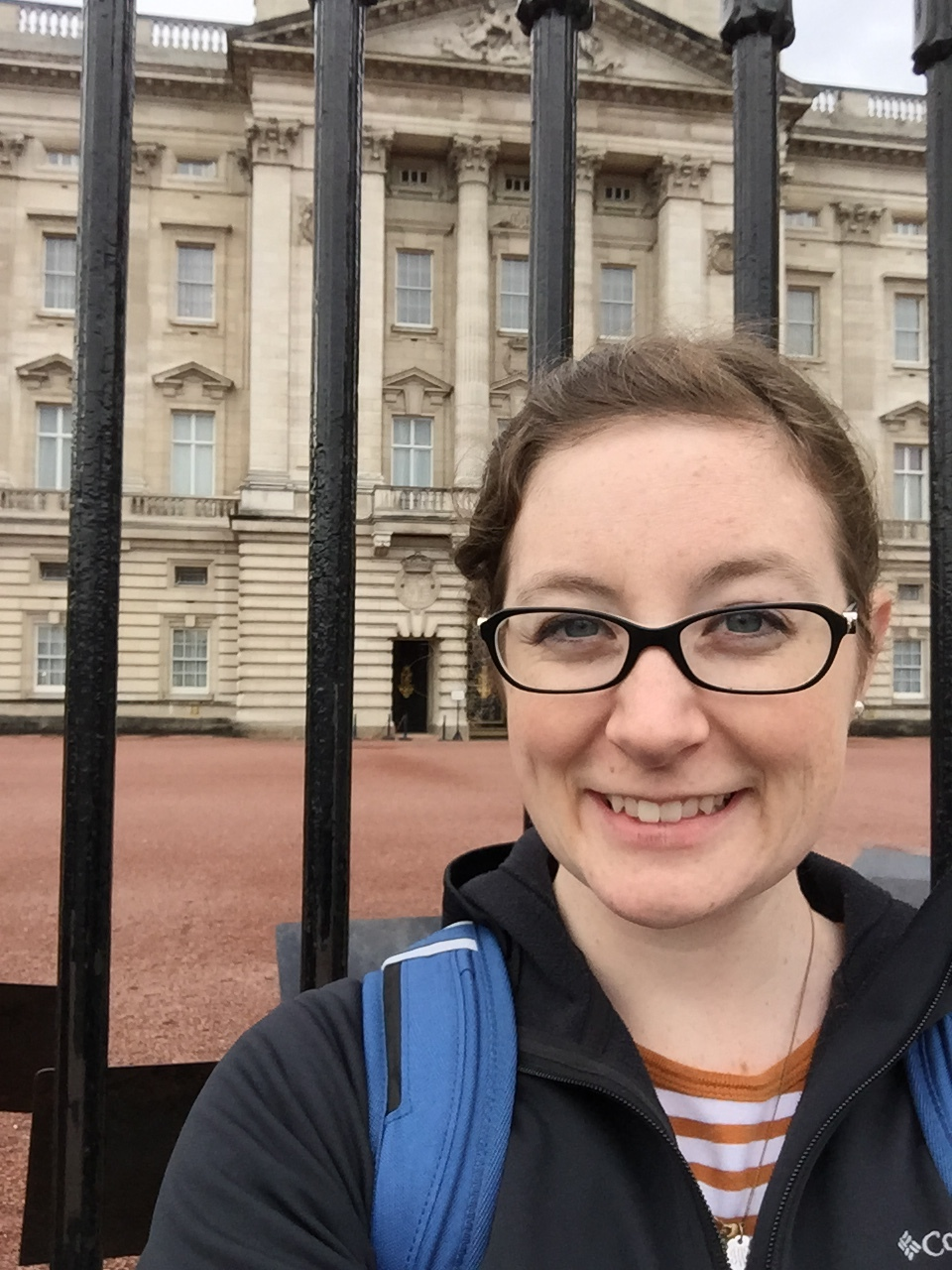 Mostly my face, with a side of Buckingham Palace. Also: the same jacket was worn for each of the above dastardly self portraits. Apparently I have a security blanket.