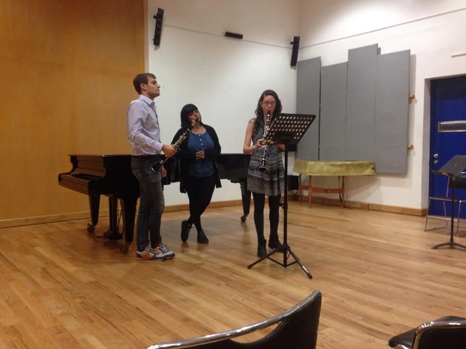 Teaching a Masterclass at the Escuela Nacional de Musica, Mexico City