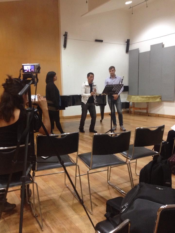 Teaching a masterclass at the Esceula Nacional de Musica in Mexico City.