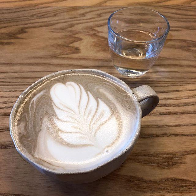 Hojicha latte @stonemillmatcha #FRIDAY!