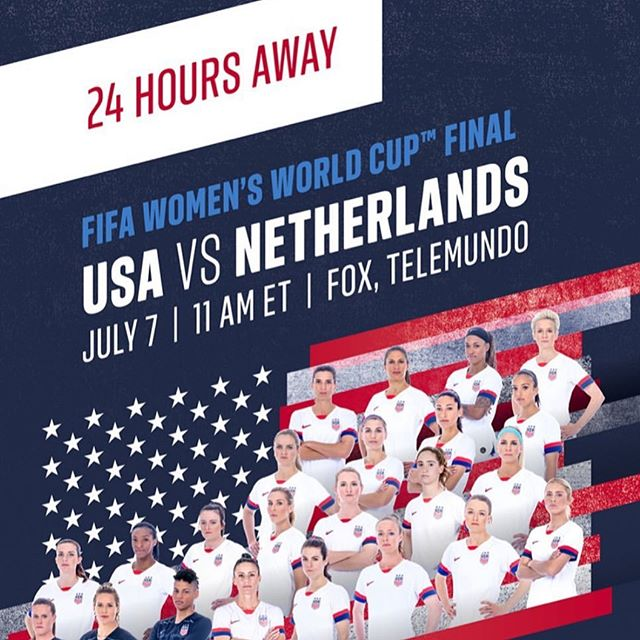 We will open at 7:30am $3.00 mimosas $6.00 michelada's  wear USA colors get a free chips and salsa @uswnt