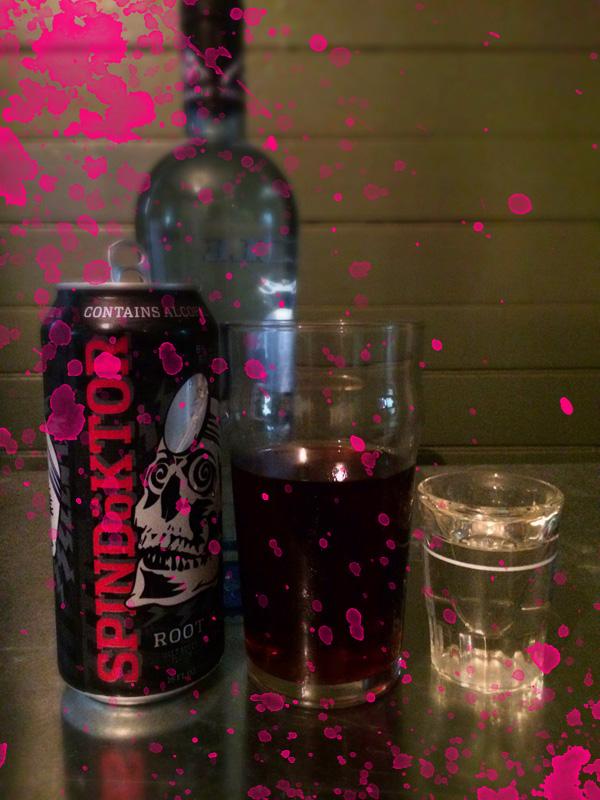 Recipe:   Half can of SpinDöktor 1.5 ounce of Pinnacle Whip or Vanilla Vodka